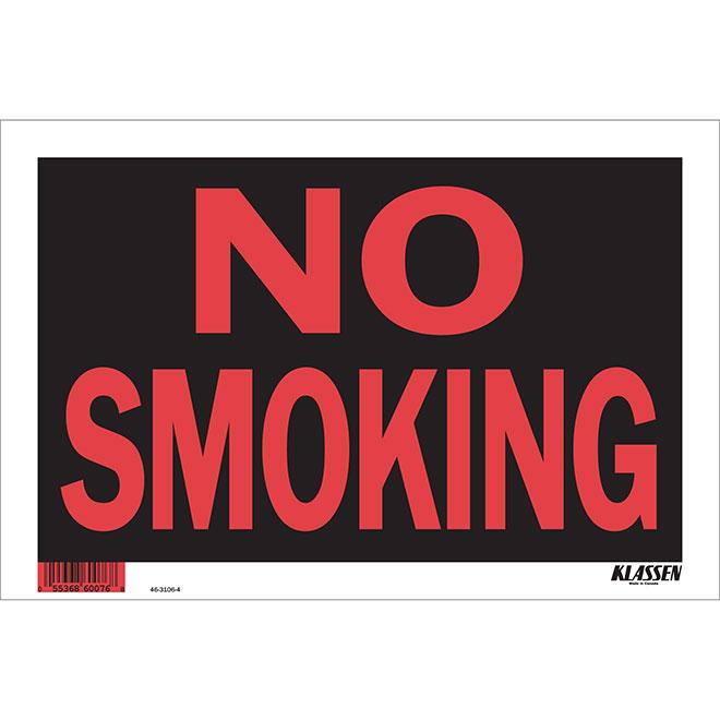 "Hi-Impact ""No Smoking"" Sign"