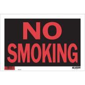 Écriteau anglais « No Smoking » à fort impact