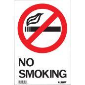 Écriteau anglais « No Smoking » en métal, noir