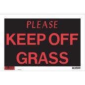 """Please Keep Off Grass"" Hi-Impact Sign"