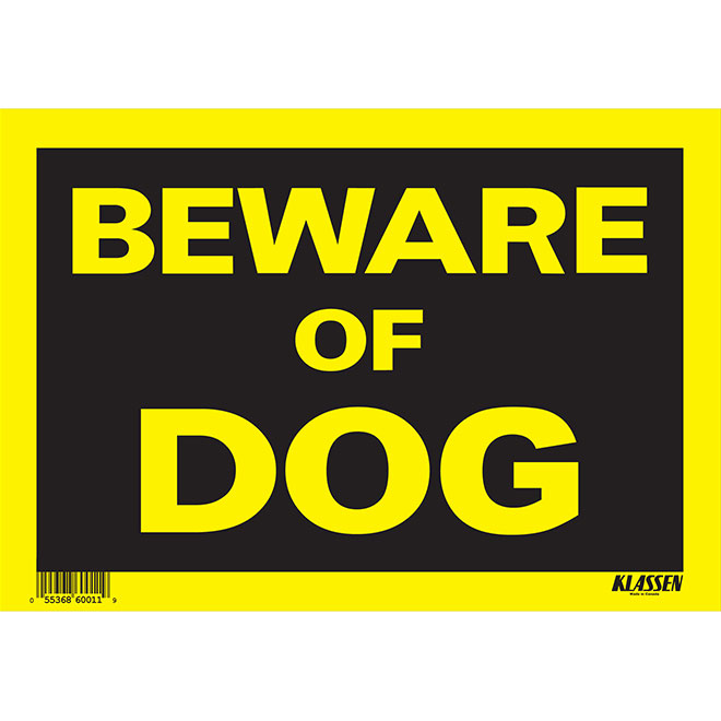 """Beware of Dog"" Hi-Impact Sign"