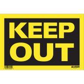Écriteau anglais « Keep Out » en métal, noir