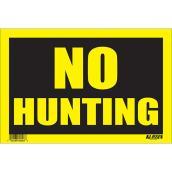 Écriteau anglais « No Hunting »