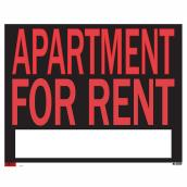 """Apartment for Rent"" Sign - 19"" x 24"""