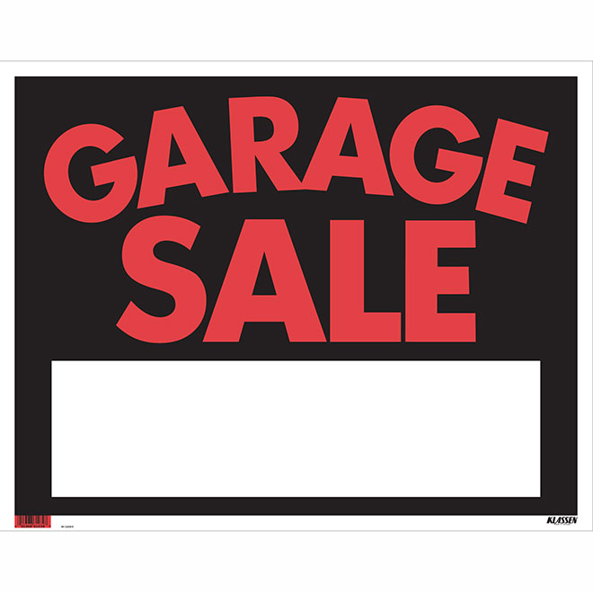"""Garage Sale"" Sign - Jumbo"
