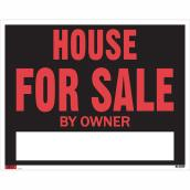 """House for Sale by Owner"" Sign - 19"" x 24"""