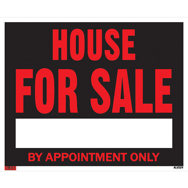 """House for Sale by Appointment Only"" Sign - Jumbo - Red"