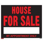 Écriteau anglais « House for Sale by Appointment Only »