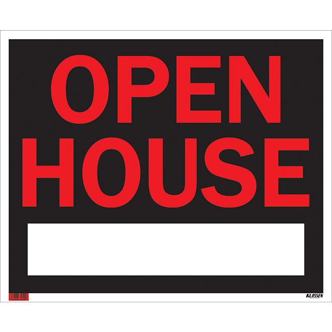 Écriteau anglais « Open House », taille jumbo