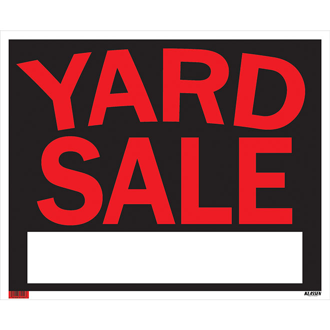 """Yard Sale"" Sign"