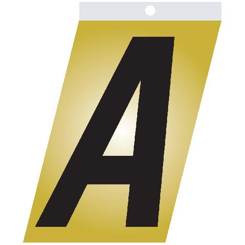 "Self-Adhesive Metal Letter - A - 1 1/2"" - Black"