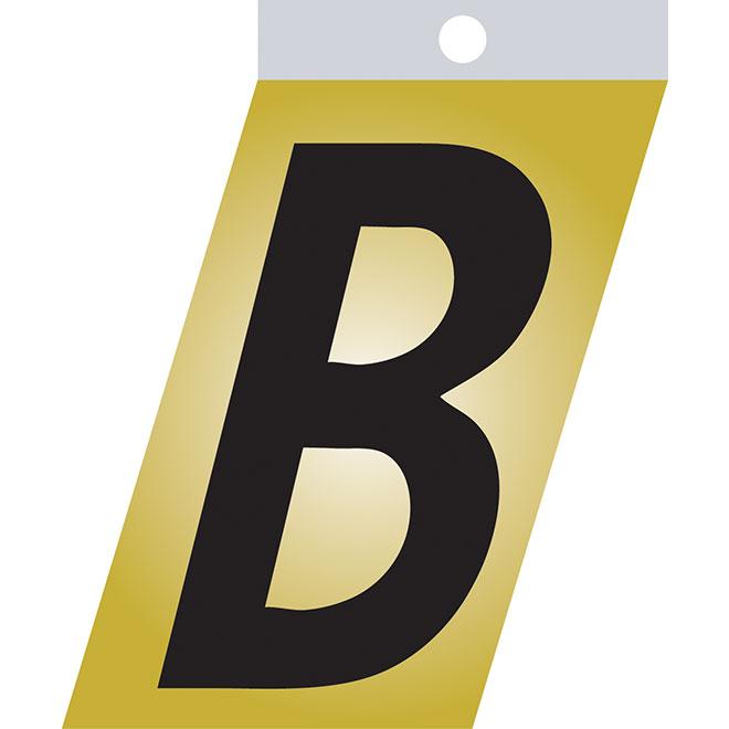 """Self-Adhesive Metal Letter - B - 1 1/2"""" - Black"""
