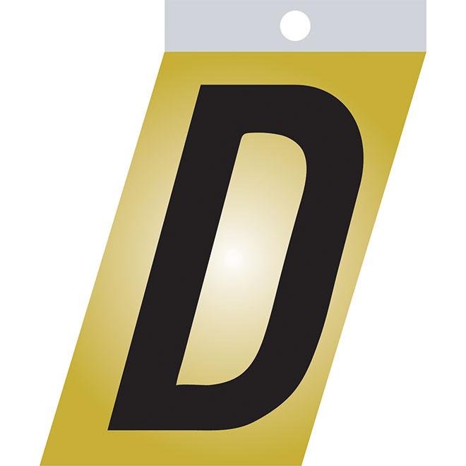 """Self-Adhesive Metal Letter - D - 1 1/2"""" - Black"""