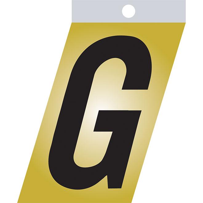 "Self-Adhesive Metal Letter - G - 1 1/2"" - Black"