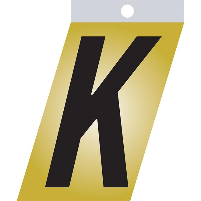 "Self-Adhesive Metal Letter - K - 1 1/2"" - Black"