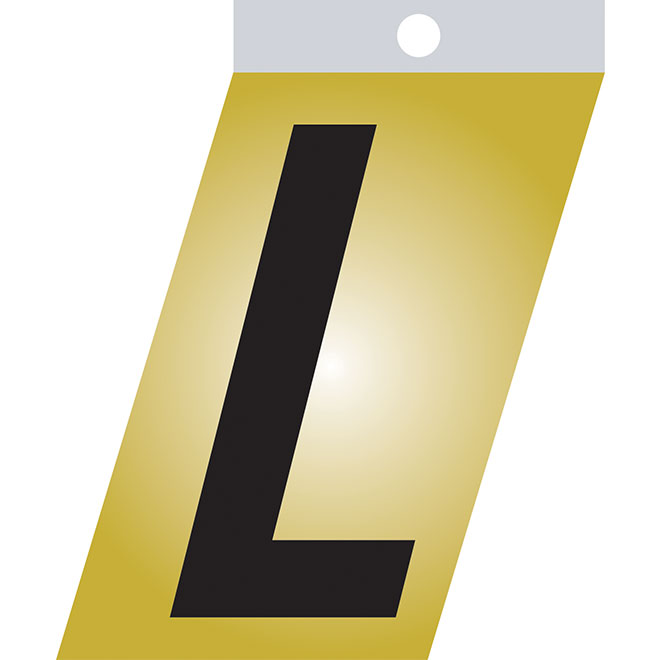 "Self-Adhesive Metal Letter - L - 1 1/2"" - Black"
