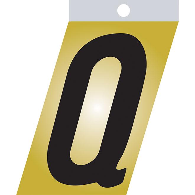 """Self-Adhesive Metal Letter - Q - 1 1/2"""" - Black"""