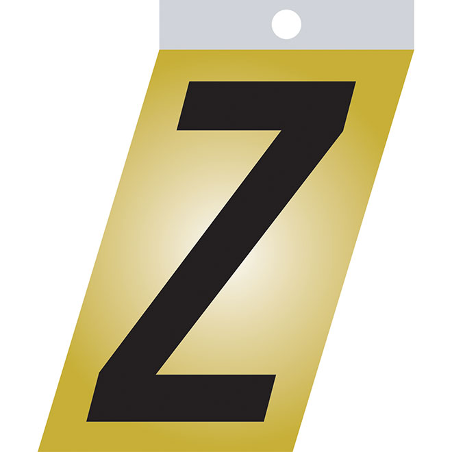 "Self-Adhesive Metal Letter - Z - 1 1/2"" - Black"