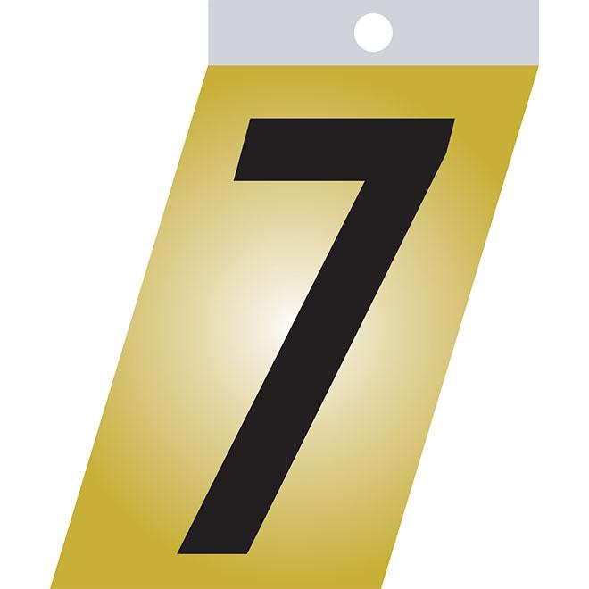 "Self-Adhesive Number - Metal - #7 - 1 1/2"" - Black"