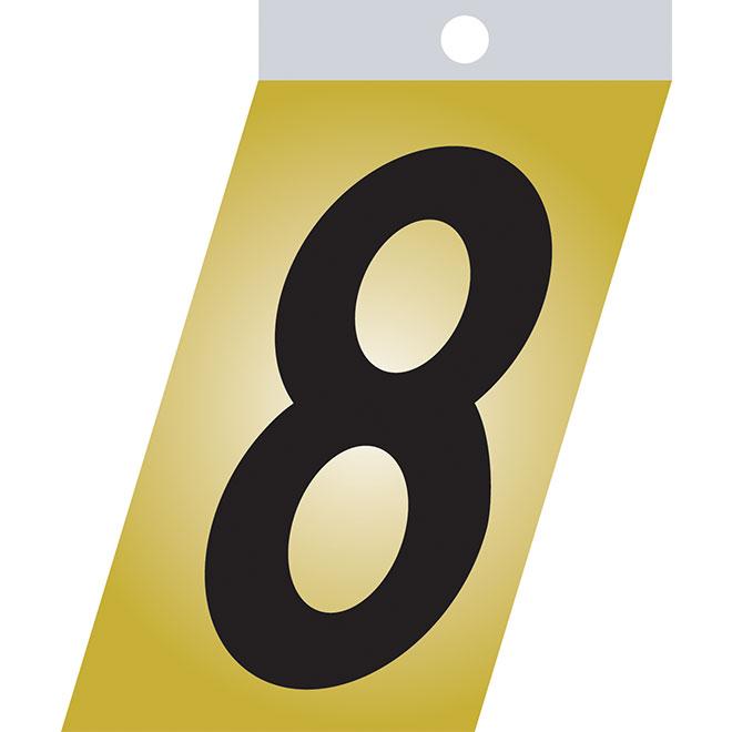 "Self-Adhesive Number - Metal - #8 - 1 1/2"" - Black"