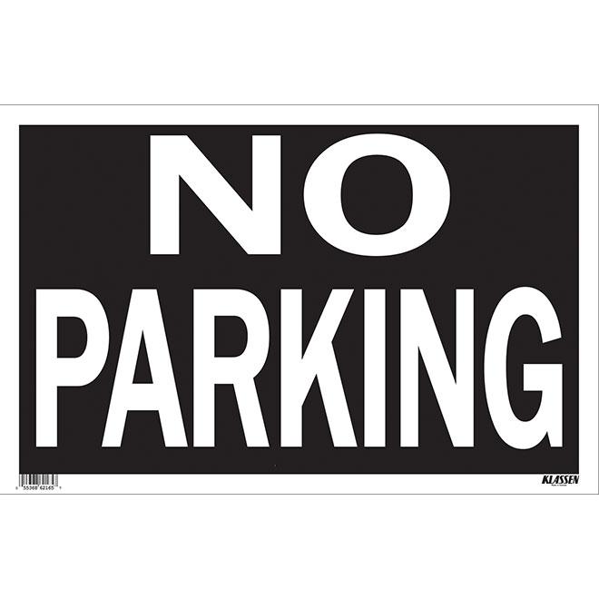 """No Parking"" Sign - Mini-Jumbo"