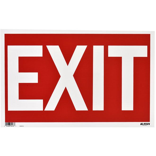 """Exit"" Sign - Mini-Jumbo - 12"" x 19"""