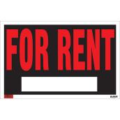 """For Rent"" Sign - Mini-Jumbo - 12"" x 19"""