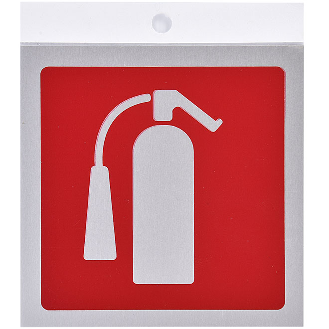 """Fire Extinguisher"" Aluminum Sign - 3 1/2"""