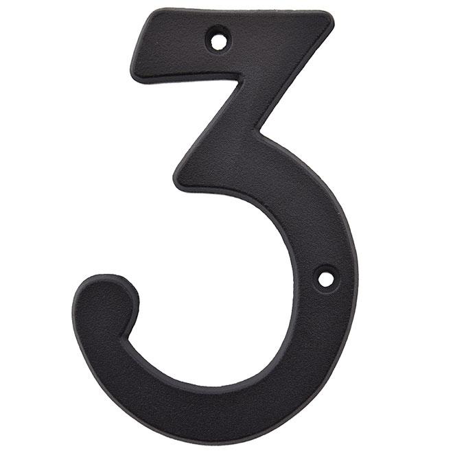 """Nail-On Metal number - #3 - 5"""" - Black"""