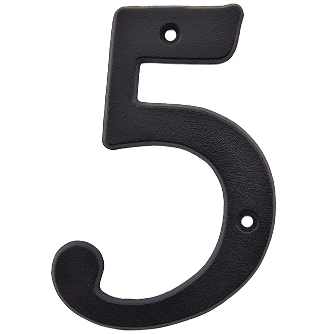 "Nail-On Metal number - #5 - 5"" - Black"