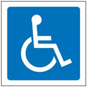 """Wheelchair"" Sign - 3 1/2"""