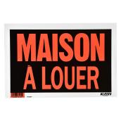 """Maison à louer"" French Sign - Metal - 8"" x 12"" - Black"