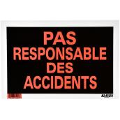 """Pas responsable des accidents"" French Sign - 8"" x 12"""