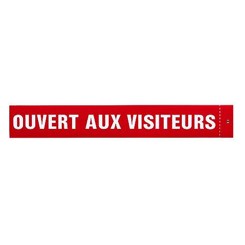 Écriteau français « Ouvert aux visiteurs », 3'' x 18''