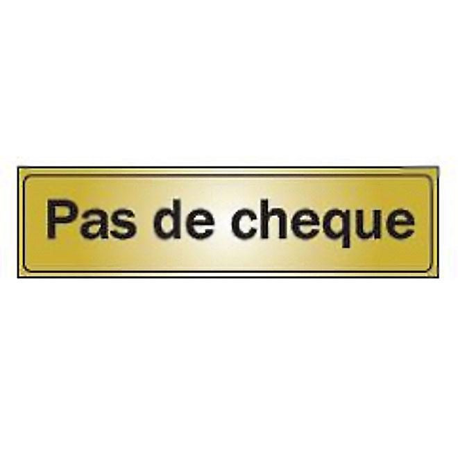 """""""Pas de chèque"""" French Sign - Mini-Jumbo"""
