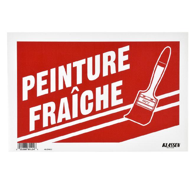 """""""Peinture fraîche"""" French Sign - 8"""" x 12"""""""