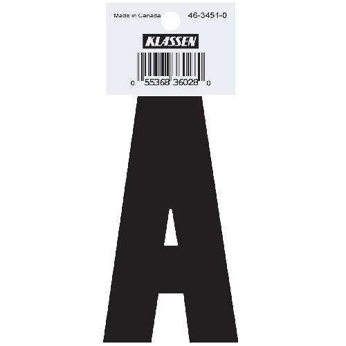 "Self-Adhesive ""A"" letter - 3"" - Black"