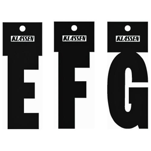 """Lettre «T», autoadhésive, 3"""", noir"""