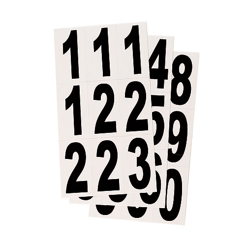 """Reflective Numbers - Vinyl - 3"""" - 27/PK - Black and White"""
