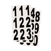 "Reflective Numbers - Vinyl - 3"" - 27/PK - Black and White"
