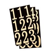 "Reflective Numbers - Vinyl - 3"" - 27/PK - Black and Gold"