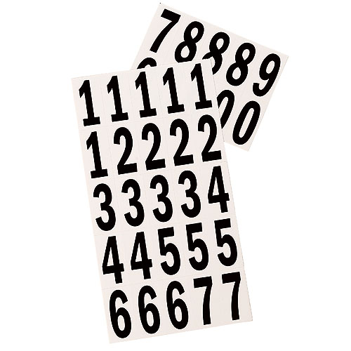 """Reflective Numbers - Vinyl - 2"""" - 35/PK - Black and White"""