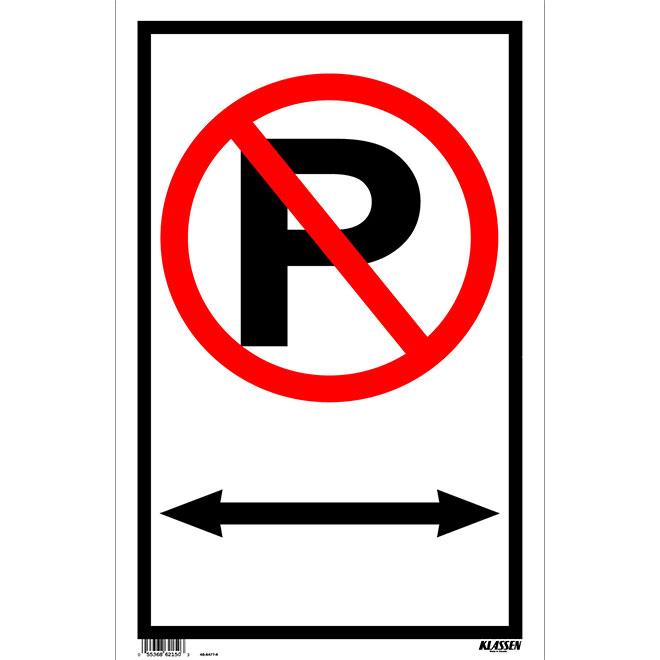 """No Parking"" Mini-Jumbo Sign"