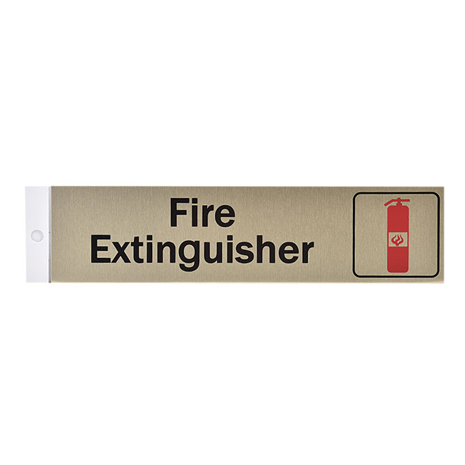 """Fire Extinguisher"" Sign - 2"" x 8"""