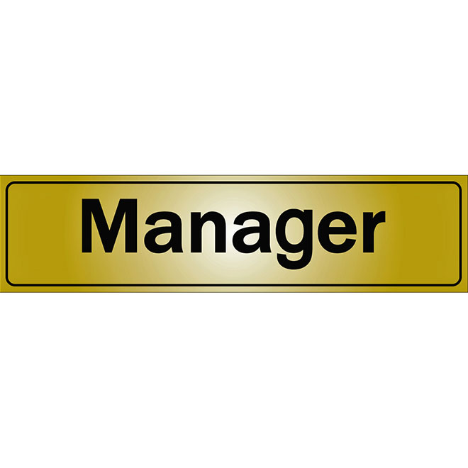 """""""Manager"""" Sign - 2"""" x 8"""""""