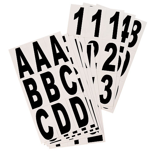"Numbers and Letters - Vinyl - 3"" - 81/PK - Black and White"