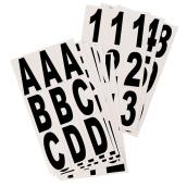 Klassen Brand Self-Adhesive Numbers and Letters - Reflective - 3-in - Black and White - Vinyl - 81-Pack