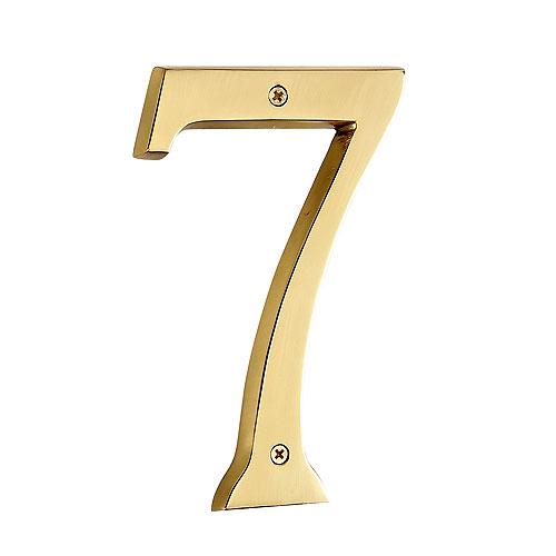 "Screw-On Brass Number - #7 - 6"""