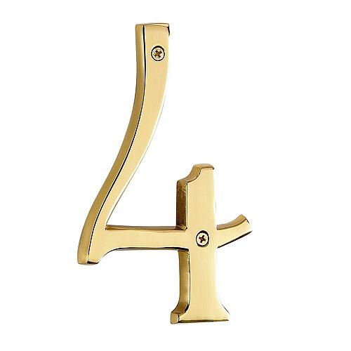 "Screw-On Brass Number - #4 - 6"""