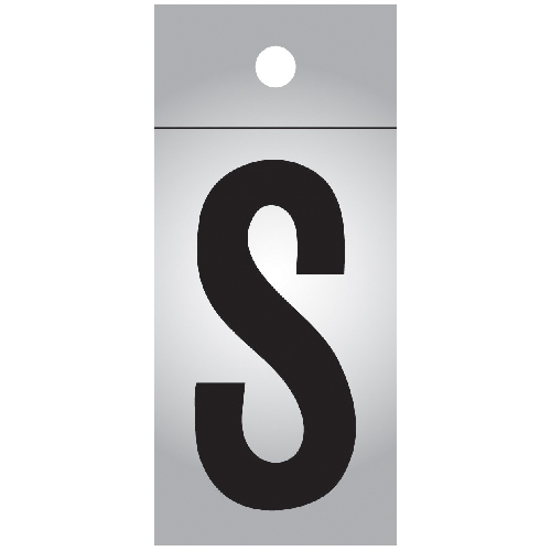 """Reflective Letter - Vinyl - S - 1"""" - Black and Silver"""